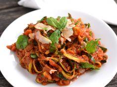 """Cukkini """"spagetti"""" recept"""