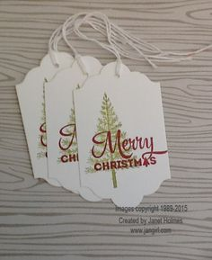 Jan Girl: Stampin' Up Lots of Joy, Merry Moments Christmas In July Tags, Wine Topper and gift card holder