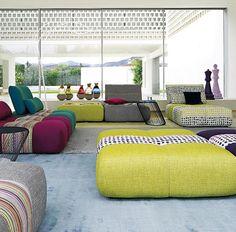 Sofá PARCOURS | Sacha Lakic Design | Roche Bobois #sofa #canapé #RocheBobois #SachaLakic www.lakic.com
