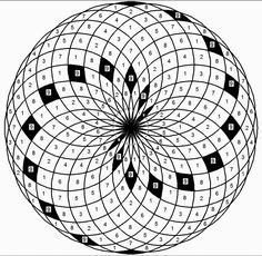 This is the 24 digit recurring, compressed Fibonacci sequence on a torus skin. The 9s are highlighted and create approximate Phi spiraling arms