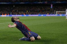 David Villa llevó el éxtasis al Camp Nou.   FC Barcelona 4-0 AC Milan. [12.03.13]