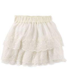 Carter's Little Girls' Tiered Lace Skirt