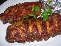 Costillas de cerdo al horno Sliced Beef Recipes, Pork Chop Recipes, Grilling Recipes, Meat Recipes, Mexican Food Recipes, Cooking Recipes, Sweet And Sour Pork Chop Recipe, Baked Pork Ribs, Chilean Recipes