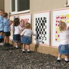 Outdoor wall games imagine these inside too on room dividers spielplatz, Outdoor Play Spaces, Outdoor Walls, Outdoor Fun, Outdoor Toys, Playground Games, Backyard Playground, Preschool Playground, Wall Game, School Equipment
