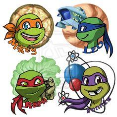 Turtle Faces by m3ru.deviantart.com on @deviantART