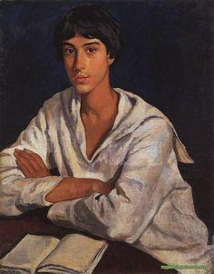 Portrait of E.I. Zolotarevskii in childhood by Zinaida Serebriakova