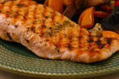 Grilled Salmon Packets With Tomatoes, Olives, Garlic, Thyme, And ...