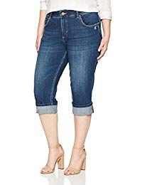 online shopping for Riders Lee Indigo Women's Plus Size Modern Collection Denim Skinny Cuffed Capri from top store. See new offer for Riders Lee Indigo Women's Plus Size Modern Collection Denim Skinny Cuffed Capri Best Jeans For Women, Pants For Women, Clothes For Women, Jeans Skinny, Women's Jeans, Thing 1, Swim Dress, Plus Size Women, Fashion Outfits