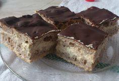 Diós diókrémes szelet Poppy Cake, Hungarian Recipes, No Bake Cake, Banana Bread, Bakery, Muffin, Cooking Recipes, Sweets, Cookies