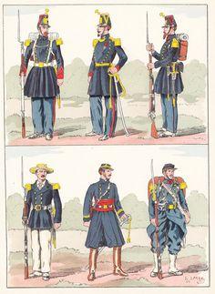 French; Infanterie de la Marine, 1855, 1858, 1860, Matinique, 1870
