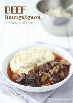 Beef Bourguignon (low-carb, keto, paleo)