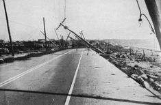Photograph of Island Park, New York after the Great Hurricane of 1938 from The New England Hurricane by the Federal Writers' Project