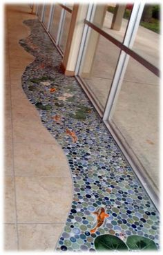 Koi fish bathroom floor awesome this isn 39 t a kid 39 s for Koi fish bathroom decorations
