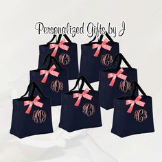Hey, I found this really awesome Etsy listing at https://www.etsy.com/listing/56218519/6-personalized-bridesmaid-gift-tote-bags