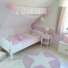 the princess room- …das Prinzessin-Zimmer … the princess room😍 # Girl& room # children& room # Mädchenzim … – - Baby Room Decor, Nursery Room, Boy Room, Bedroom Decor, Cosy Living, Fantasy Bedroom, Maids Room, Unicorn Bedroom, Kids Room Furniture