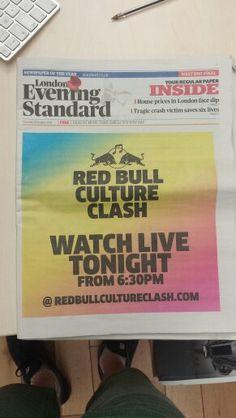 #CultureClash Evening Standard spread