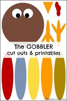 The GOBBLER cut outs & printables Thanksgiving Crafts for Kids Free Printables Holiday Crafts, Fun Crafts, Spring Crafts, Thanksgiving Crafts For Toddlers, Thanksgiving Turkey, Thanksgiving Crafts For Kindergarten, Turkey Crafts For Preschool, Thanksgiving Projects, Thanksgiving Cookies