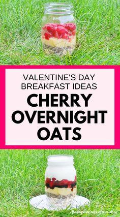 Cherry vanilla overnight oats with vanilla yogurt, cherries, tart cherry juice. Healthy breakfast ideas with fruit and oatmeal. Coconut Recipes, Healthy Eating Recipes, Healthy Breakfast Recipes, Healthy Snacks, Breakfast Ideas, Diet Snacks, Healthy Breakfasts, Vanilla Recipes, Healthy Baking