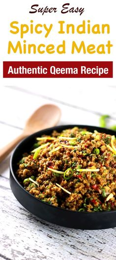 Indian Recipes This CLASSIC authentic Indian minced meat Qeema recipe is so delicious, it'll … Keema Recipes, Mince Recipes, Chef Recipes, Cooking Recipes, Curry Recipes, Fish Recipes, Meat Recipes For Dinner, Indian Food Recipes, Ethnic Recipes