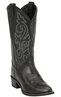Justin® Men s Black London Calf Classic Western Boots  9962f3e7241c