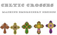 Celtic Crosses Machine Embroidery Designs    Available In The Following Embroidery Formats:    CSD, DST, EMD, EXP, HUS, JEF, PCS, PES, SEW,