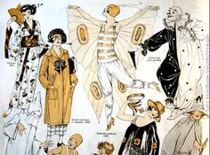 Butterick costume patterns, Delineator, November (The magazine would have come out in October. Retro Halloween, 1920 Halloween Costumes, Witch Costumes, Halloween Patterns, Costume Patterns, Vintage Costumes, Masquerade Costumes, Halloween Halloween, Halloween Makeup