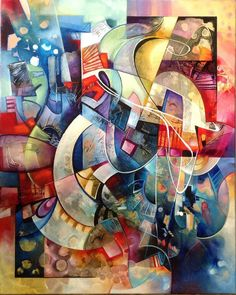 Mangala abstract painting by Amytea