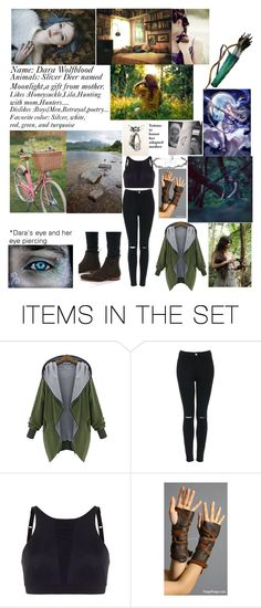 """""""Dara Wolfblood daughter of artemis goddess of the hunter and of the moon...."""" by thatnerdgirlruns4themadmaninabox ❤ liked on Polyvore featuring art"""