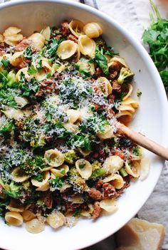 Orecchiette with Sausage, Sun-Dried Tomatoes and Broccoli / Bev Cooks pasta sausage Orecchiette with Sausage, Sun-Dried Tomatoes and Broccoli Italian Recipes, New Recipes, Cooking Recipes, Healthy Recipes, Giada Recipes, Budget Cooking, Kitchen Recipes, Easy Cooking, Cooking Tips