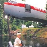 recycled homes-new use for a retired jetliner.