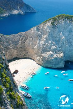Dreaming about a #beach escape? We have some good deals for your perfect Greece holiday. Greece brims with beaches and the #NavagioBay or Shipwreck Beach is the best photographed beach for some #sea, #sun and base-jump. #crystaltravel
