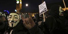 Protesto contra o capitalismo termina com ativistas detidos em Londres