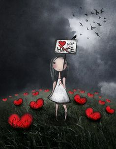 "Amanda Cass Art, ""Love Not Hate"""