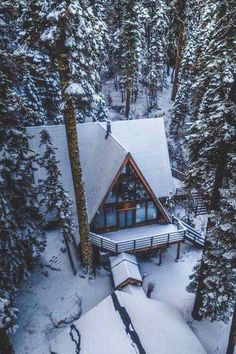 Snow-covered  ~ Great pin! For Oahu architectural design visit http://ownerbuiltdesign.com