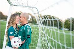 Soccer themed engagement session LinneaLiz Photography