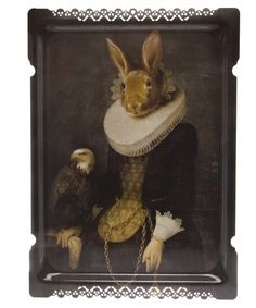 Liberty: this quirky tray features a rather sophisticated looking bunny - sure to be a talking point if you invite guests over for tea!