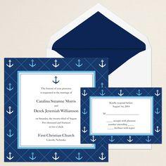 Anchor Away Wedding Invitation | #exclusivelyweddings | #bluewedding  @Susanna Mustikka