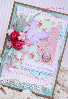 Bella Rose First Edition, Dovecraft stamps, Forget Me Not