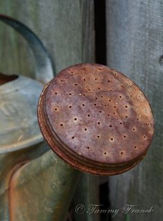 Rock River Stitches: All About The Rust! - Wow this is Sweet... The color, patina, & perfect little holes...