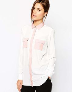 ASOS | Color Block Blouse | Everyday Essentials #asos #blouse