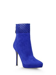 Sergio Rossi - MACRAMADE - A55520MCAZ011114578 - Booties - Booties. Laser cut, Sueded, Rear zip closure, Leather sole, Metallic inserts. Composition: 100% Lambskin Heel height:4.7Inches Platform height:0.8Inches Made In Italy