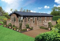 Exterior illustrated in 'Walnut' Canexel' cladding with 'Silver Birch' window frames