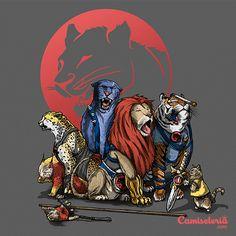 Camiseta 'About Thunder and Cats' - Catalogo Camiseteria.com