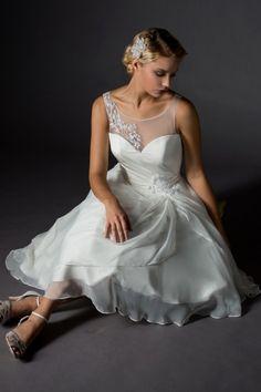 Rita Mae Tea Length Wedding Dress 1028