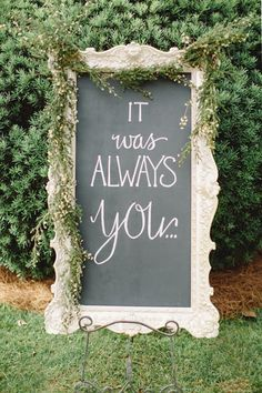 vintage wedding sign ideas