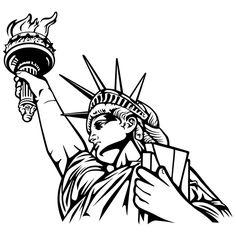 Vinilos Decorativos: Estatua de la Libertad 2