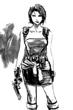 Jill Valentine sketch circa Resident Evil 3 : Nemesis.