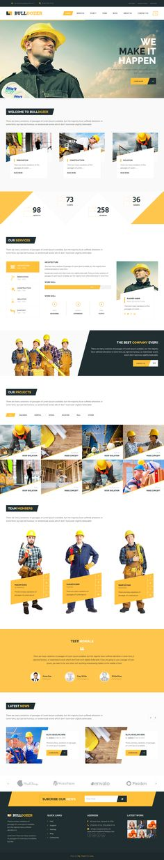 Bulldozer is an multipurpose premium Bootstrap Niche template. #construction #building #website