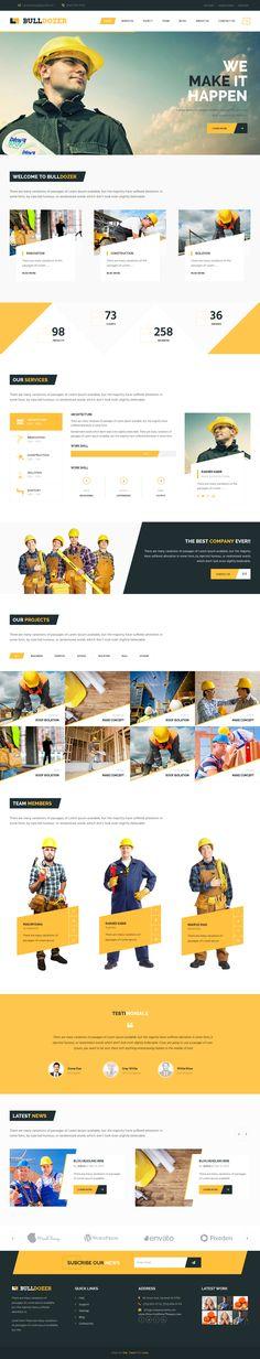 Bulldozer is an multipurpose premium Bootstrap Niche template. #construction #building #website
