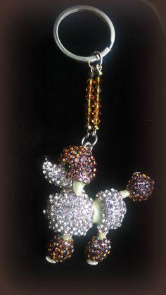 Swarovski Poodle Keychain by Purrwoof on Etsy, $12.00